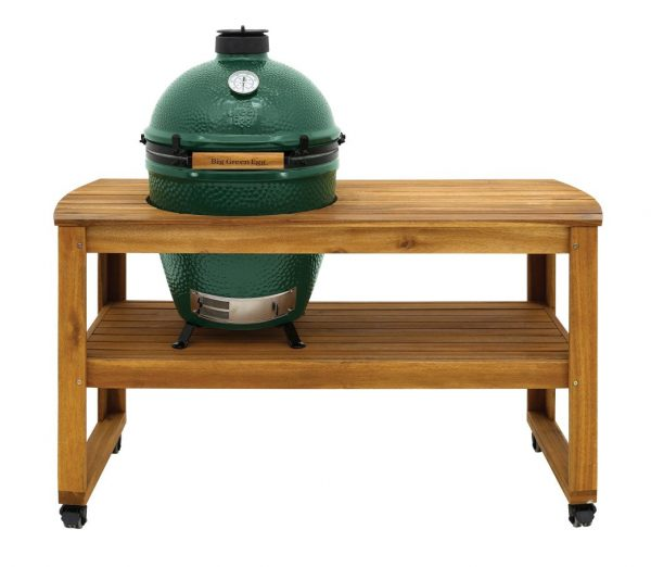 Large Big Green Egg in Acacia Table