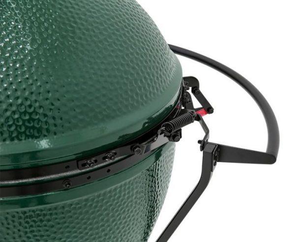 close up of big green egg handler