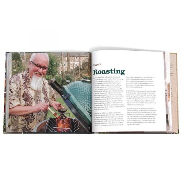ray lampes big green egg cookbook open