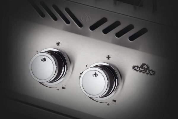 Built-in 500 Series Inline Dual Range Top Burner with Stainless Steel Cover