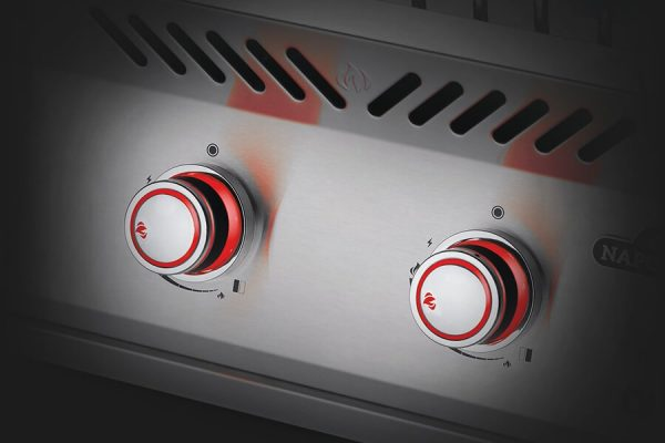 Built-in 700 Series Inline Dual Range Top Burner with Stainless Steel Cover