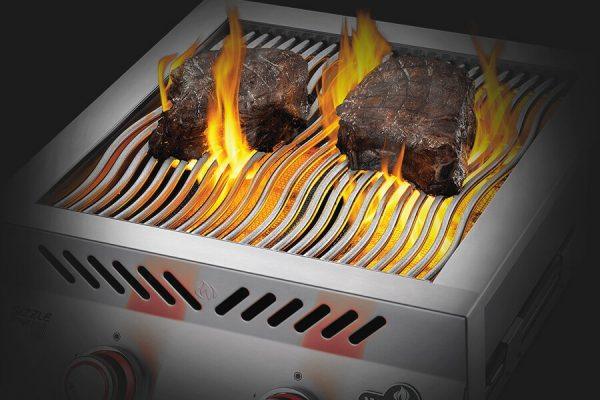Built-in 700 Series Dual Infrared Burner with Stainless Steel Cover